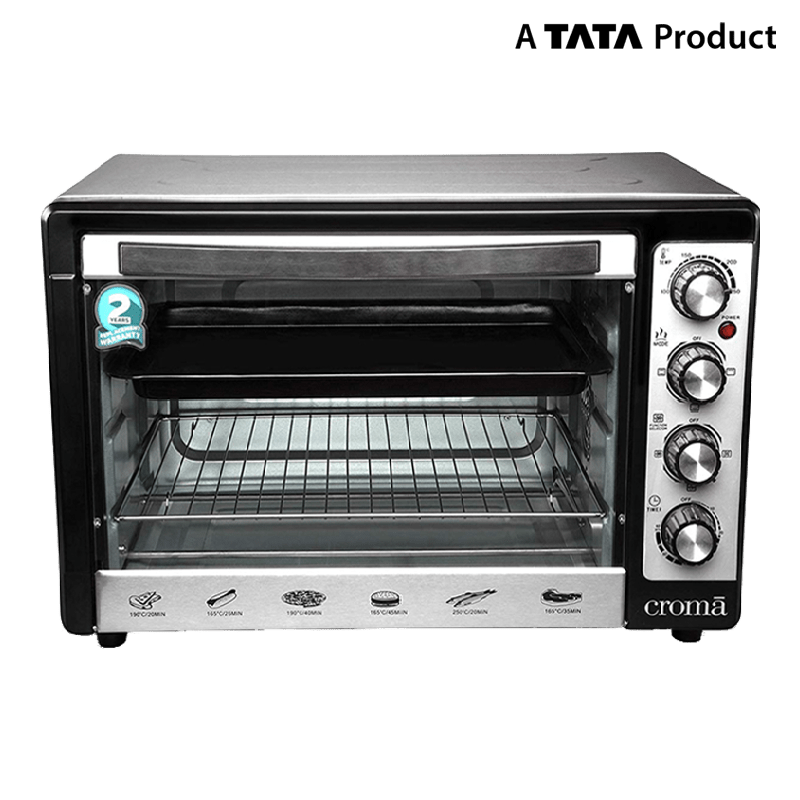 Croma 48 Litres CRAO0063 Oven Toaster Griller (Black)_2
