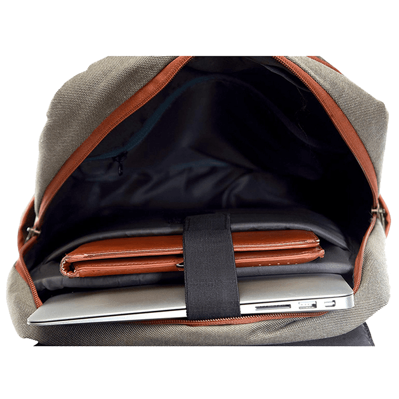 Croma Polyester Laptop Backpack (CRXL5200, Brown)_5