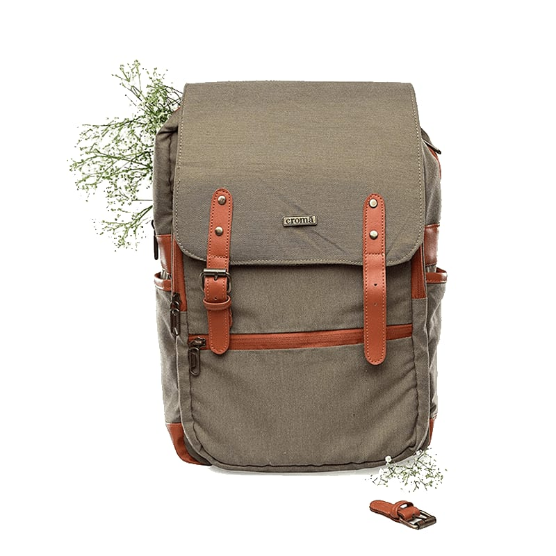 Croma Polyester Laptop Backpack (CRXL5200, Brown)_1