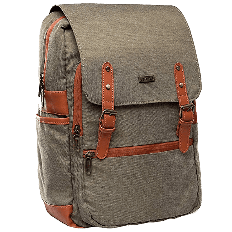 Croma Polyester Laptop Backpack (CRXL5200, Brown)_7