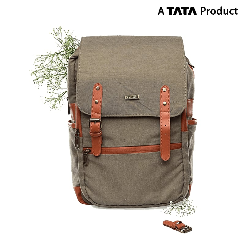 Croma Polyester Laptop Backpack (CRXL5200, Brown)_2