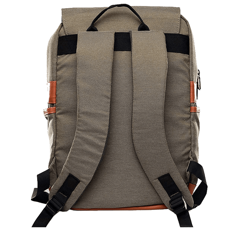 Croma Polyester Laptop Backpack (CRXL5200, Brown)_4