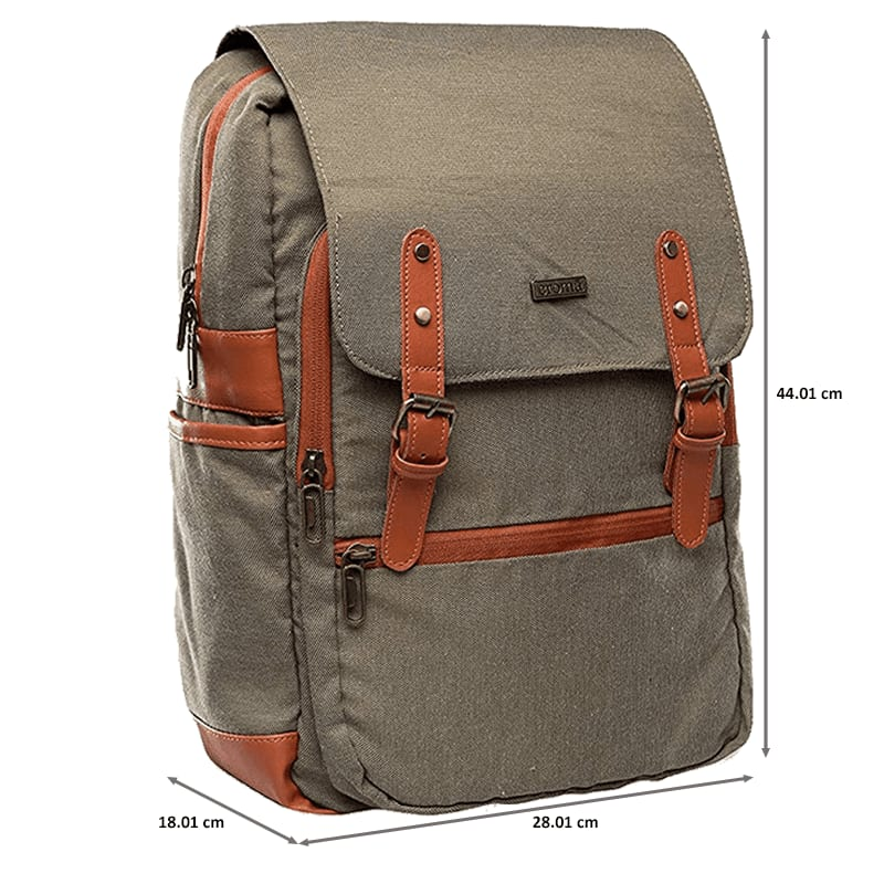 Croma Polyester Laptop Backpack (CRXL5200, Brown)_3