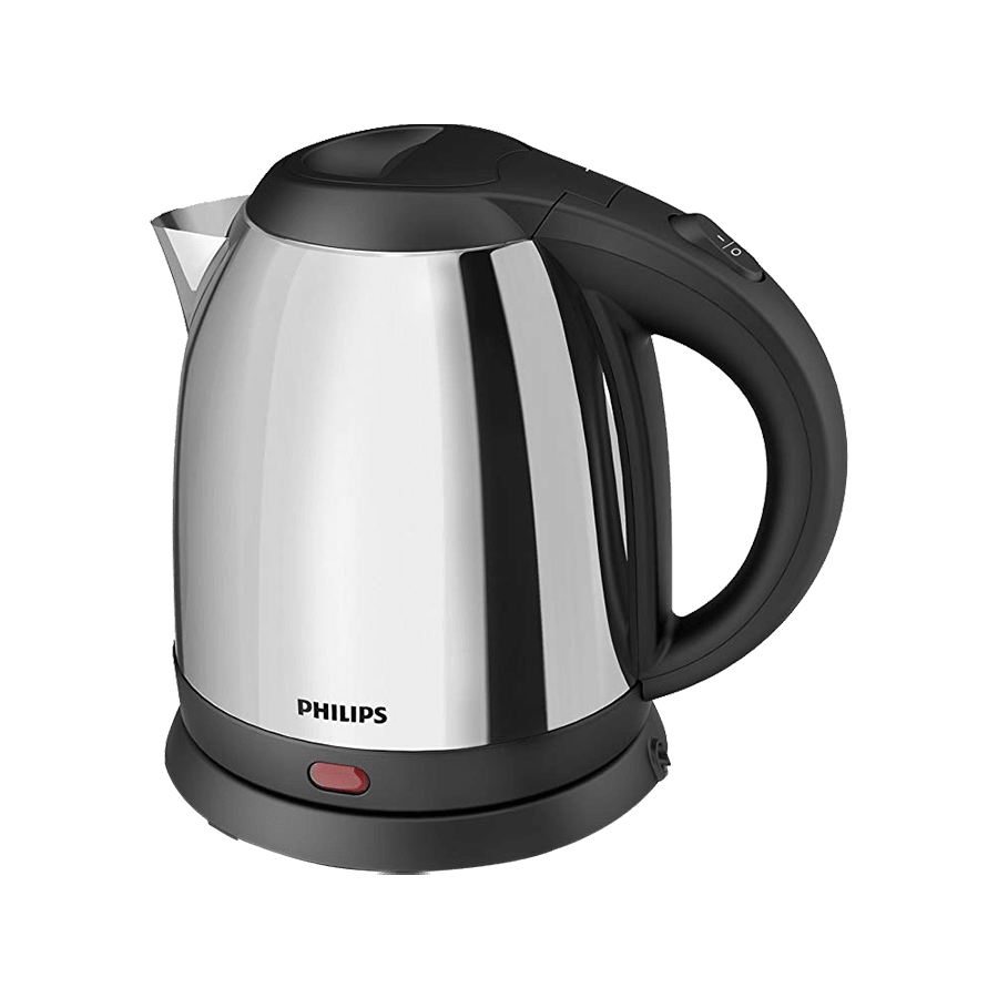 Philips Daily Collection 1.2 Litres Electric Kettle (Non-Detachable Base, Cord Winder, HD9303/02, Metallic Silver)