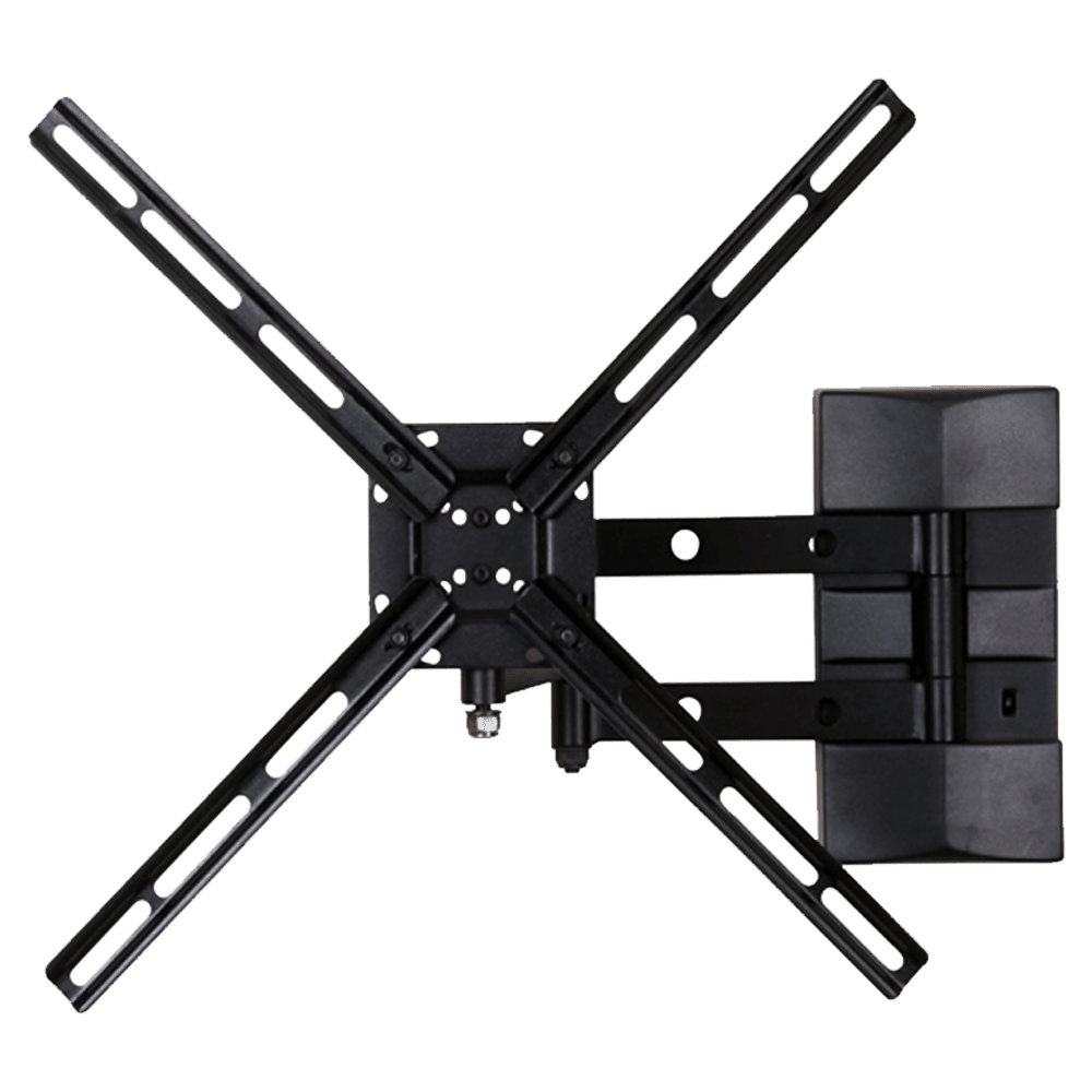 RD Plast 55 inch Double Arm Wall Mount TV Stand (RW 9823-1, Black)