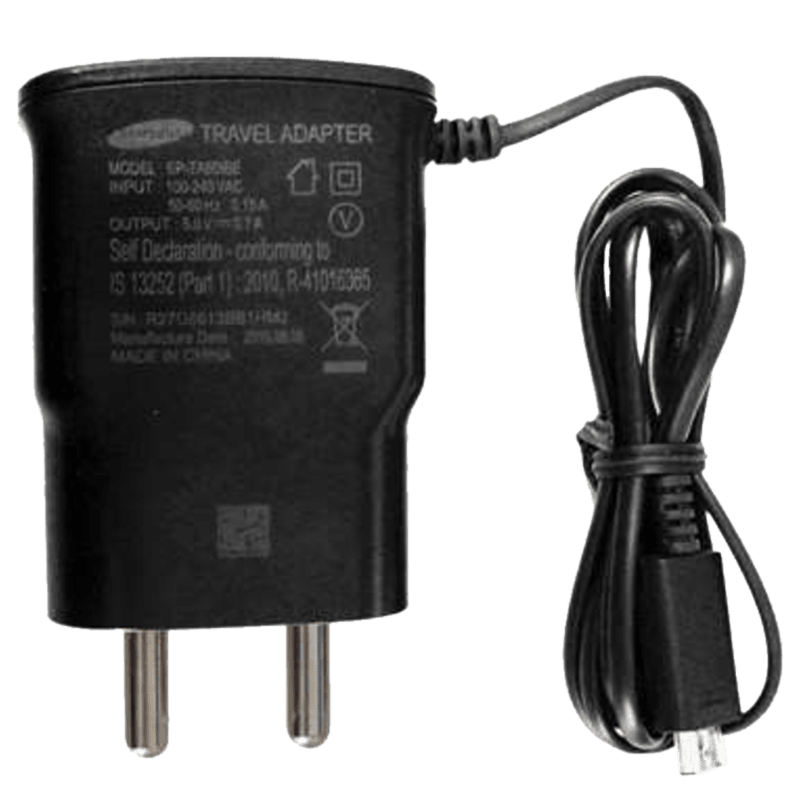 Samsung Wall Travel Adapter with Cable (EP-TA60IBEUGIN, Black)