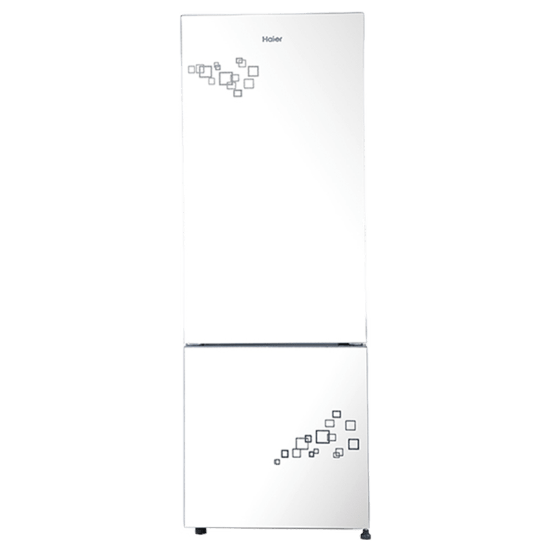 Haier 320 Litres 2 Star Frost Free Inverter Double Door Refrigerator (Bottom Mount, Twist Ice Maker, HRB-3404PMG-E, Mirror Glass)