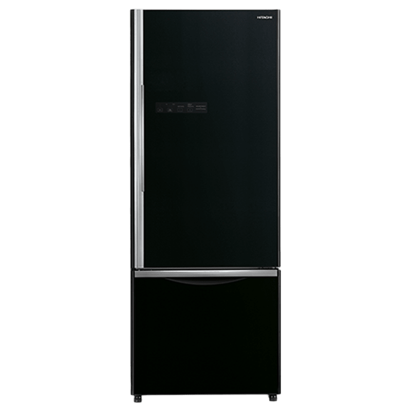 Hitachi 466 Litres 2 Star Frost Free Inverter Double Door Refrigerator (Bottom Mount, Selected Mode Compartment, R-B500PND6-GBK, Glass Black)