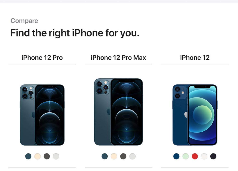 Compare iPhone 12 Pro Max