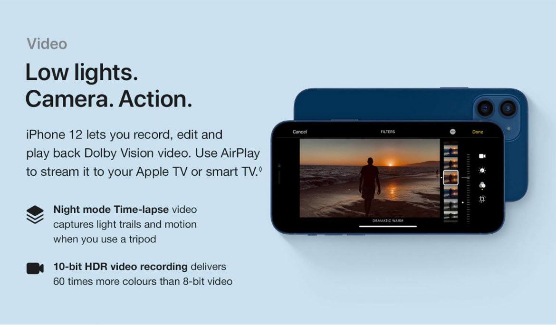 iPhone 12 video recording