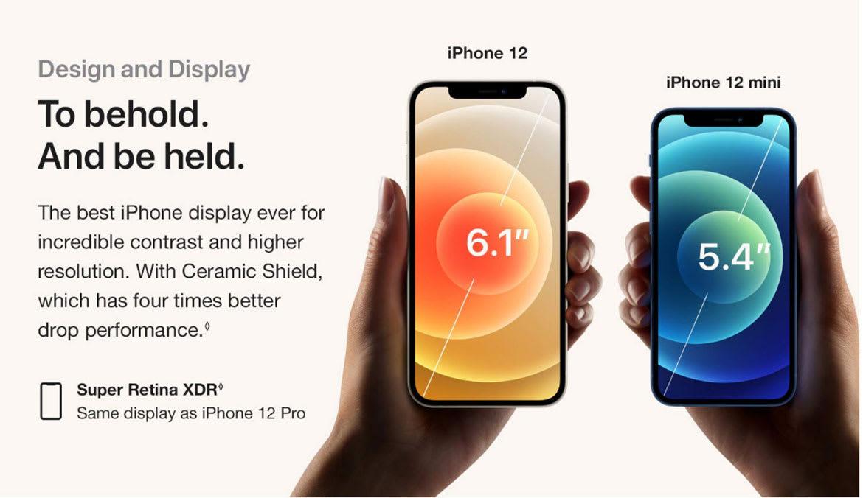 iPhone 12 and iPhone 12 Mini Screen Size