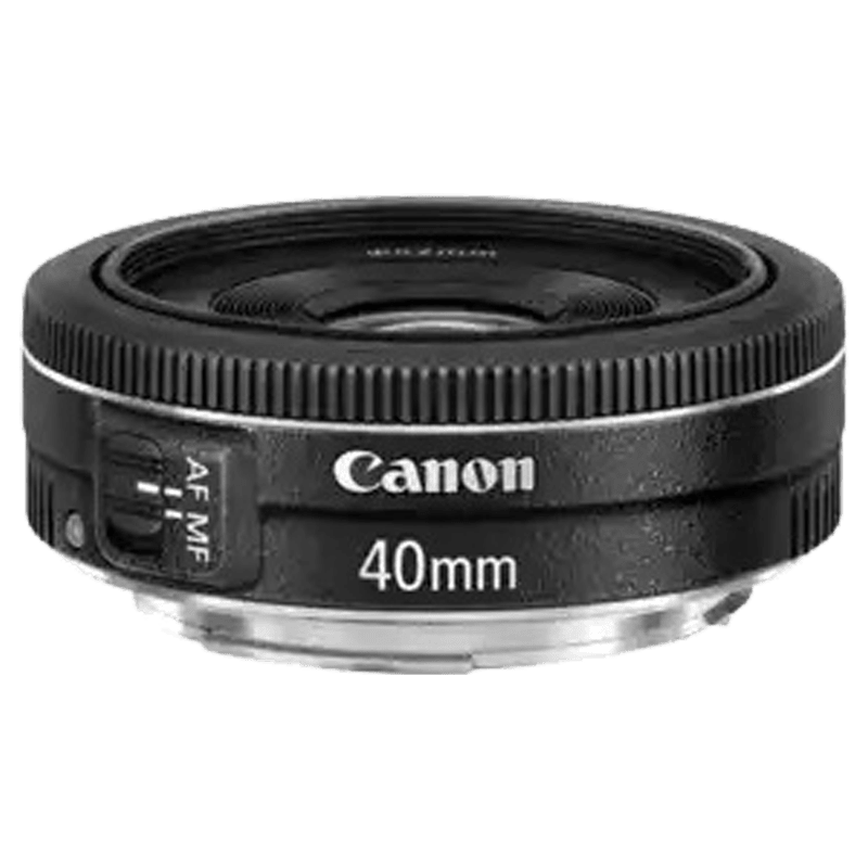 Canon EF STM Prime 40 mm F2.8-F22 Lens (Black)