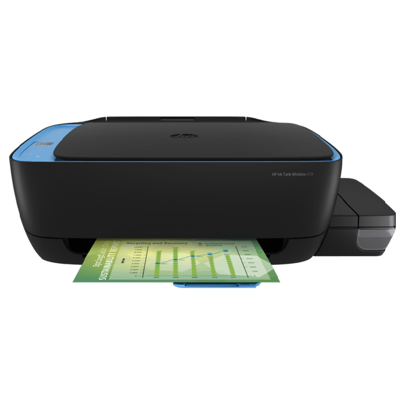 HP Ink Tank Wireless 419 Color Multi-Function Ink Tank Printer (Up to 1000 Pages Monthly Print, Z6Z97A, Blue)