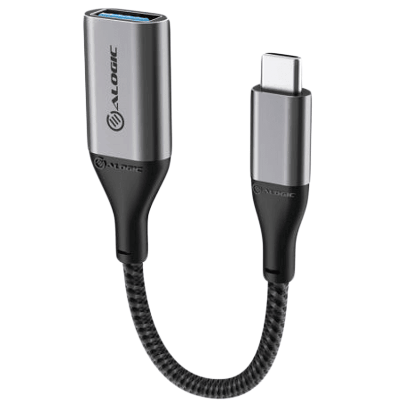 Alogic Super Ultra 15 cm USB 3.1 Type-C to USB-A Adapter (Rugged Construction, ULCAA-SGR, Space Grey)