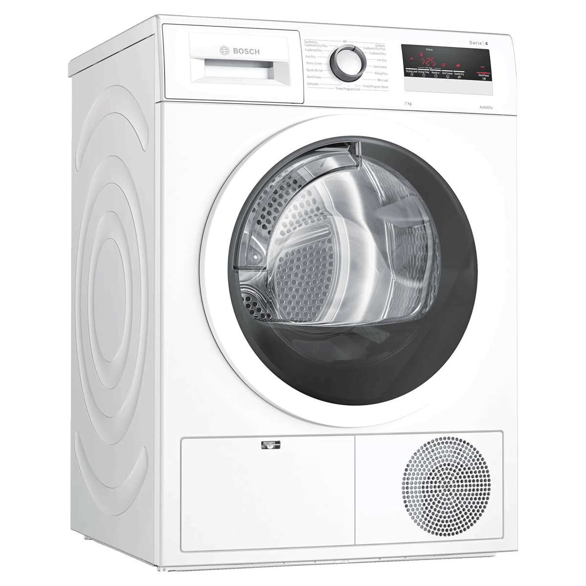 Bosch 7 kg Fully Automatic Front Loading Condenser Dryer (AllergyPlus Programme, WTN86203IN, White)
