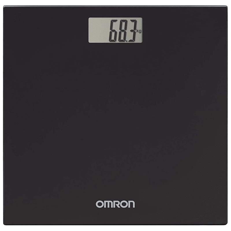 Omron Digital Body Weight Scale (Battery Powered, HN-289, Black)