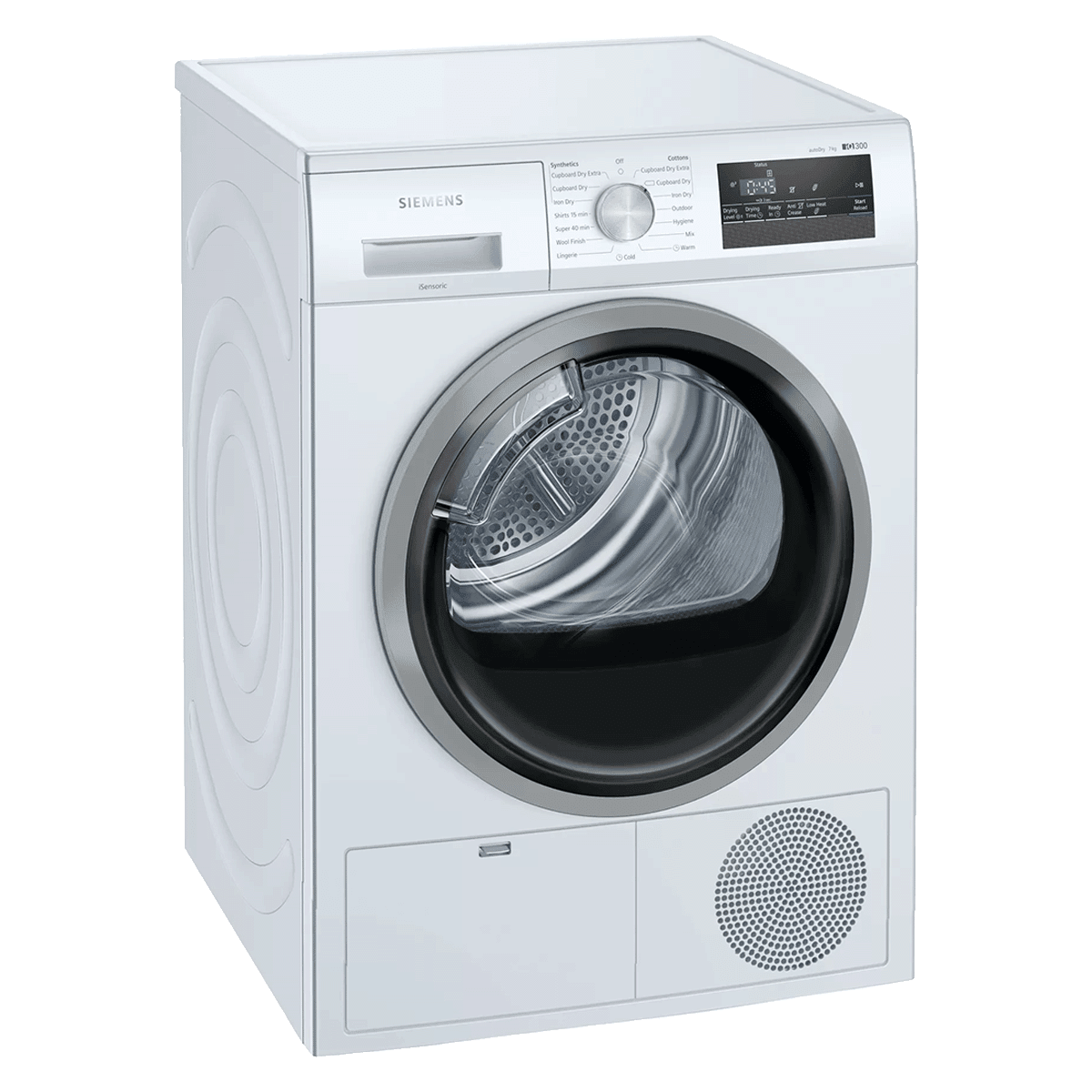 Siemens 7 kg Fully Automatic Front Loading Dryer (WT46N203IN, White)