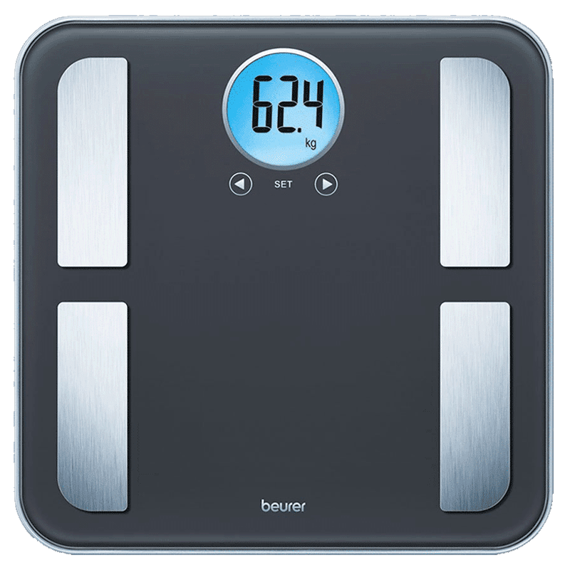 Beurer Diagnostic Bathroom Digital Weight Scale (Battery Powered, Quick Start Technology, BF195, Black)