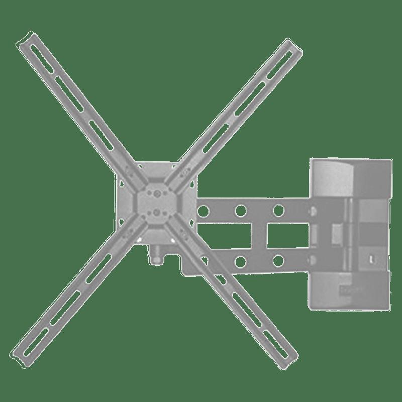 RD Plast 55 inch Single Arm Wall Mount TV Stand (RW 9840-1, Black)
