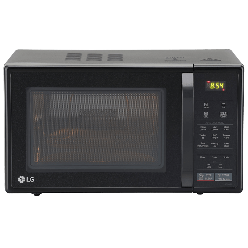 LG 21 litres Convection Microwave Oven (MC2146BG, Glossy Black)