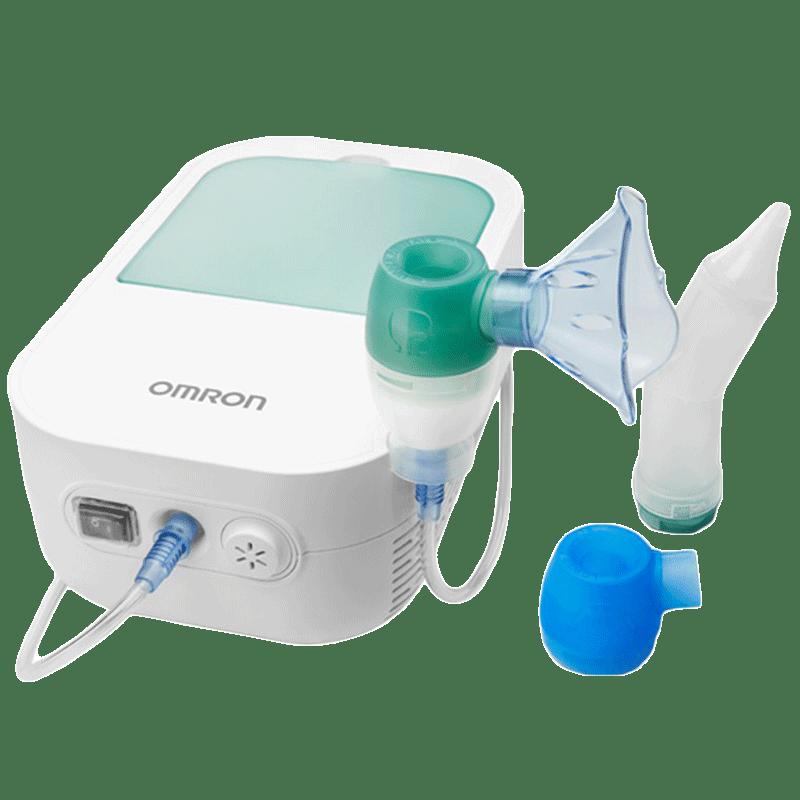 Omron DuoBaby 2-in-1 Compressor Nebulizer and Nasal Aspirator (Storage Compartment, NEC 301 AP, White)