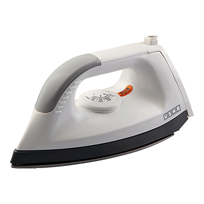 Usha EL1602 1000 Watt Dry Iron (4122116020NS, White)