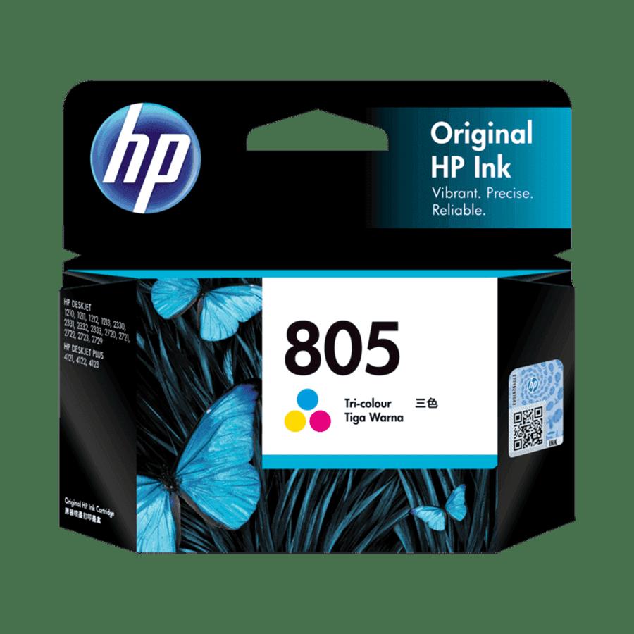 HP 805 Original Ink Cartridge (100 Page Yield, 3YM72AA, Tri-color)