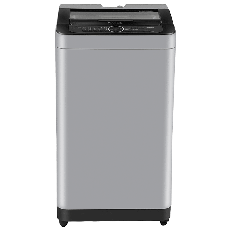 Panasonic 7 kg 5 Star Fully Automatic Top Load Washing Machine (Built-In Heater, NA-F70BH9MRB, Middle Free Silver)