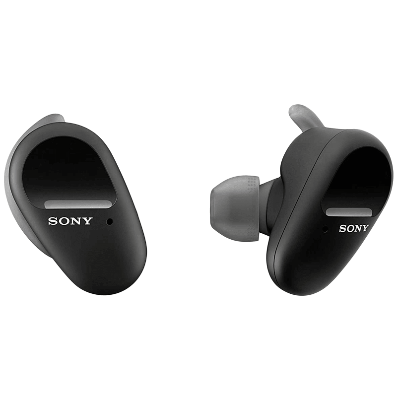 Sony In-Ear Truly Wireless Earbuds with Mic (Bluetooth 5.0, WF-SP800N, Black)