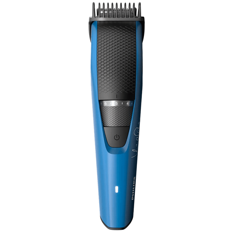 Philips Beardtrimmer Series 3000 Stainless Steel Blades Corded & Cordless Beard Trimmer (45 Min Run Time/2h Charge, 20 Length Settings, BT3105/15, Black/Blue)