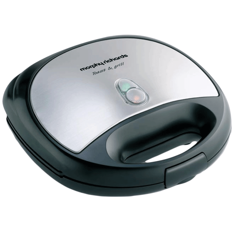Morphy Richards 750 Watts 2 Slice Automatic Toast+Grill Sandwich Maker (Anti Skid Feet, SM 3006 (T&G), Black)