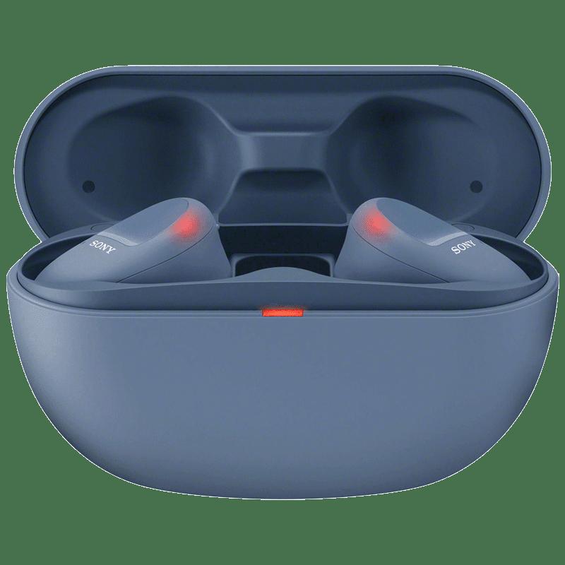 Sony In-Ear Truly Wireless Earbuds with Mic (Bluetooth 5.0, WF-SP800N, Blue)