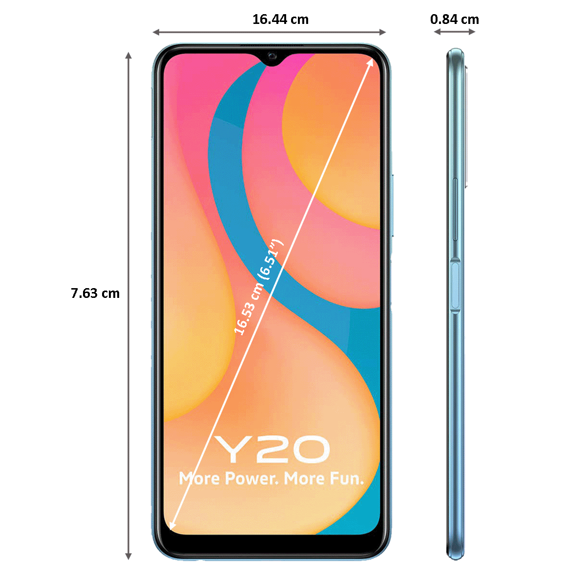 Vivo Y20 (64GB ROM, 4GB RAM, Purist Blue)_2