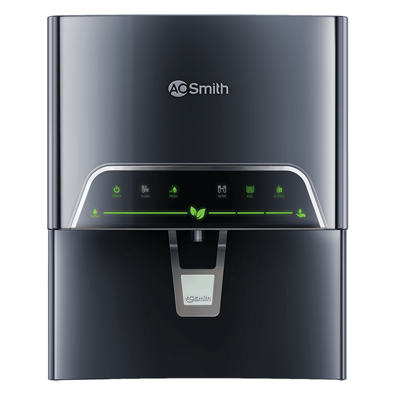 AO Smith ProPlanet P4 RO+SCMT+UV LED Electrical Water Purifier (8 Stage Purifying Technology, IGR005081RZBNU5, Black)
