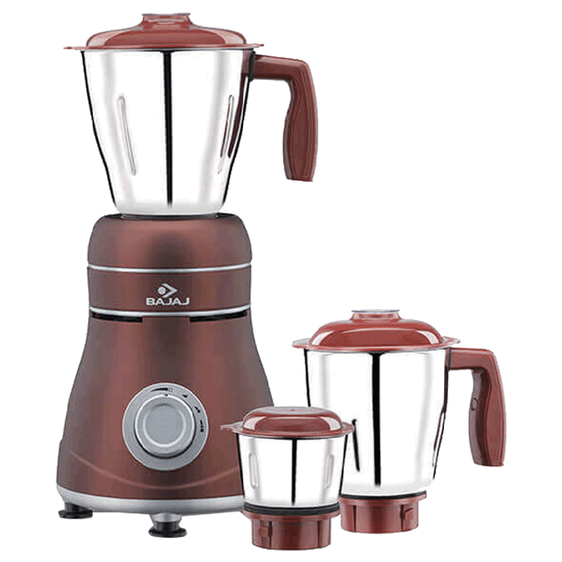 Bajaj Ivora 800 Watt Mixer Grinder (410530, Crimson Red)
