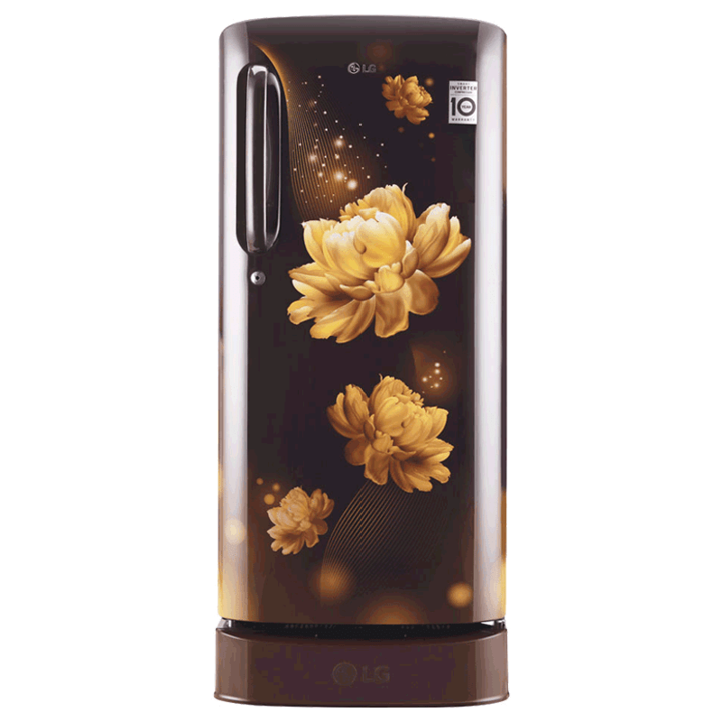 LG 190 Litres 4 Star Direct Cool Inverter Single Door Refrigerator (Smart Connect, GL-D201AHCY.AHCZEB, Hazel Charm)