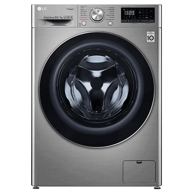 LG 10.5 kg/7 kg Fully Automatic Front Load Washer Dryer Combo (LG Steam Technology, FHD1057SWS.ASSPEIL, Silver VCM)