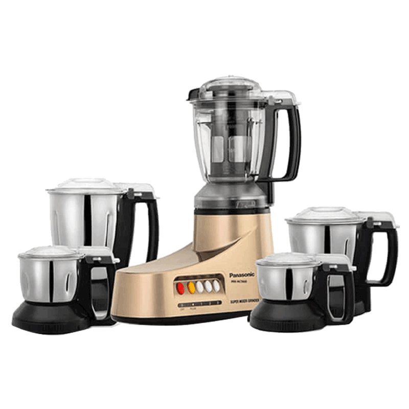 Panasonic 550 Watt 5 Jar Mixer Grinder (MX-AC560, Bronze)