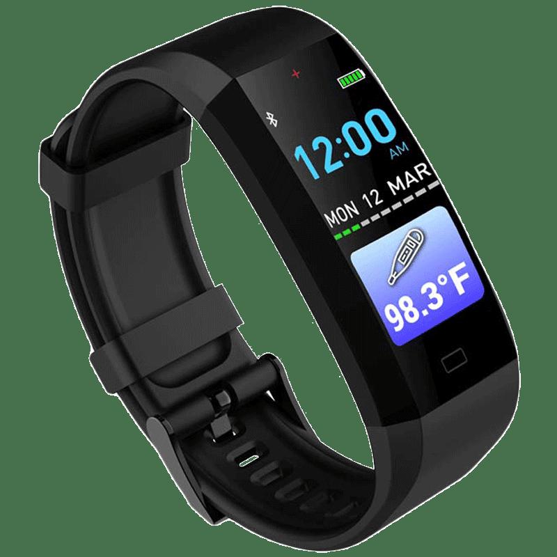 GOQii Vital 3.0 Fitness Tracker (Body Temperature Monitor, GQ3B3-VIATL 3.0, Black, Buckle Band)