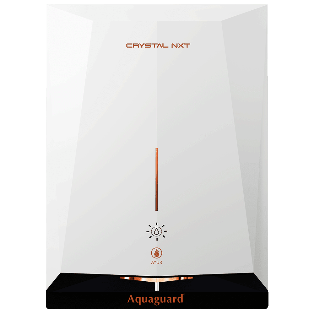 Eureka Forbes Aquaguard Crystal NXT UV+ Electrical Water Purifier (Ayur Fresh Technology, White and Copper)