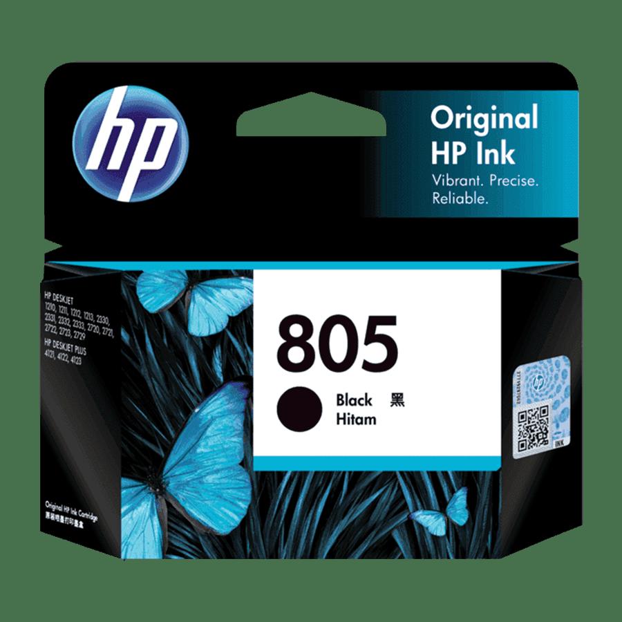 HP 805 Original Ink Cartridge (120 Page Yield, 3YM73AA, Black)