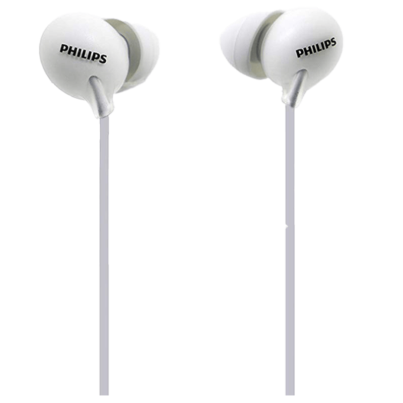 Philips UpBeat In-Ear Wired Earphones with Mic (SHE2405WT/00, White)
