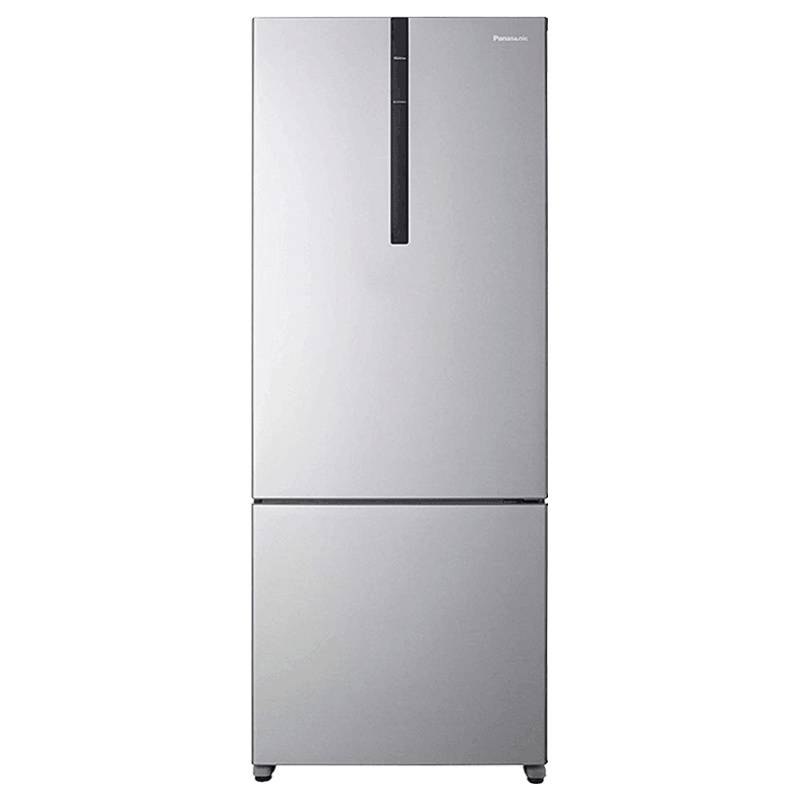Panasonic 450 Litres 3 Star Frost Free Inverter Double Door Refrigerator (Bottom Mount, ECONAVI: Smart Cooling Technology, NR-BX468VVX3, Shining Silver)
