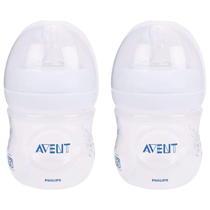 Philips Avent 125 ML 2 Pieces Natural Baby Bottle (SCF030/20, Transparent)