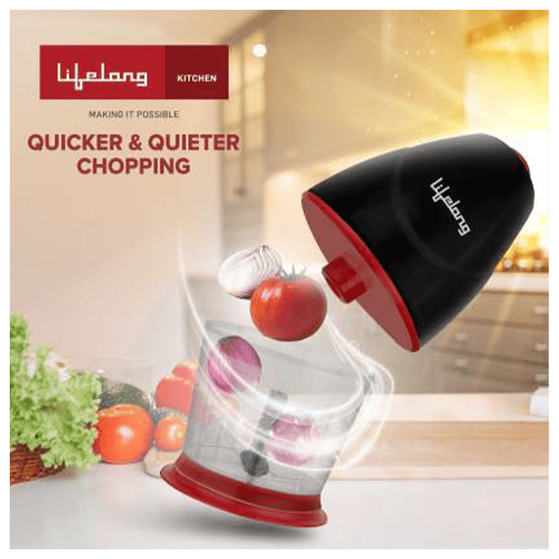 Lifelong 250 Watts Electric Chopper (Suitable for Vegetable, 1 Blade, LLEC01, Black)_5