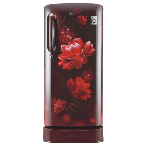 LG 190 Litres 4 Star Direct Cool Inverter Single Door Refrigerator (Smart Connect, GL-D201ASCY.ASCZEB, Scarlet Charm)