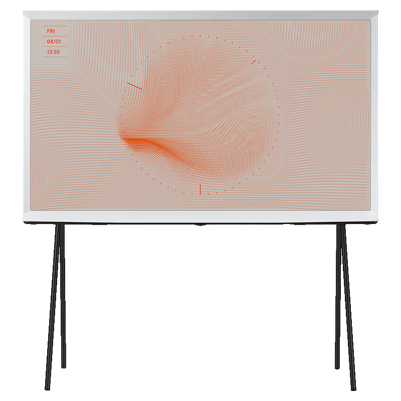 Samsung The Serif LSO1T 123cm (49 Inch) 4K Ultra HD QLED Smart TV (360 All Round Design, QA49LS01TAKXXL, Cloud White)