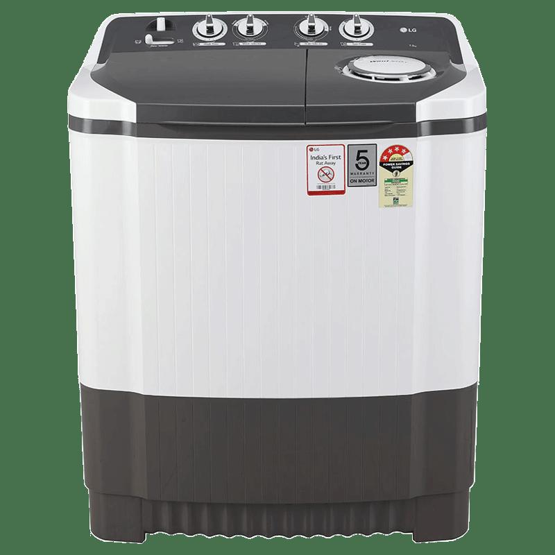 LG 7 Kg 4 Star Semi Automatic Top Load Washing Machine (P7020NGAY, Dark Grey)