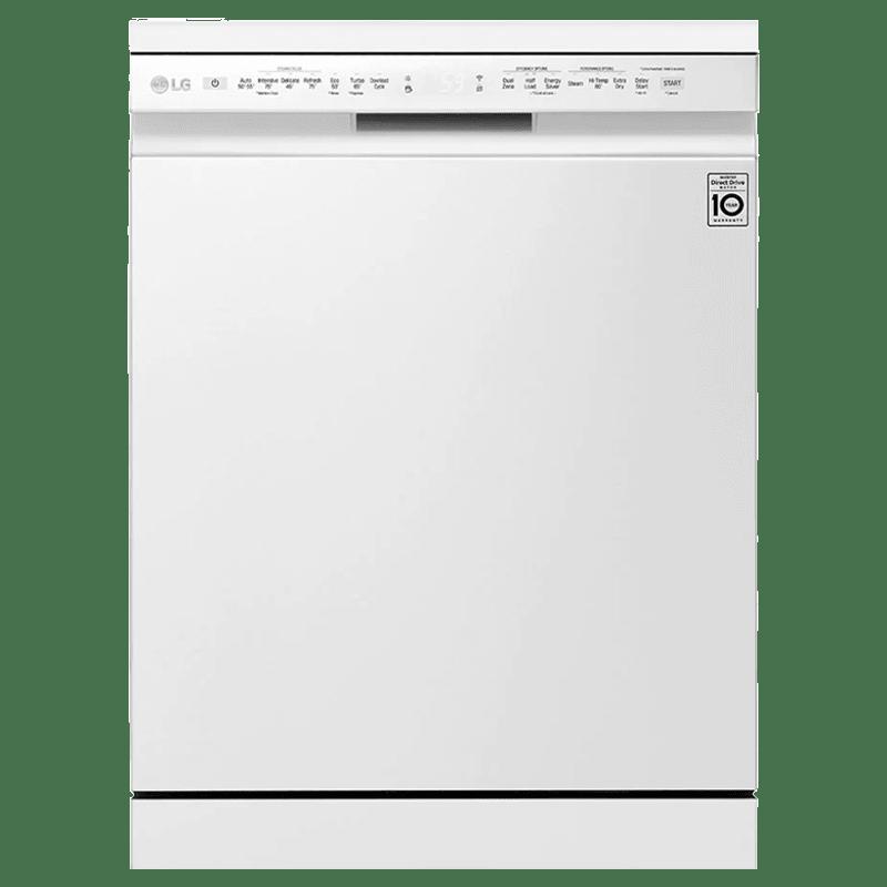 LG 14 Place Setting Freestanding Dishwasher (TrueSteam, DFB424FW.ABWPEIL, White)
