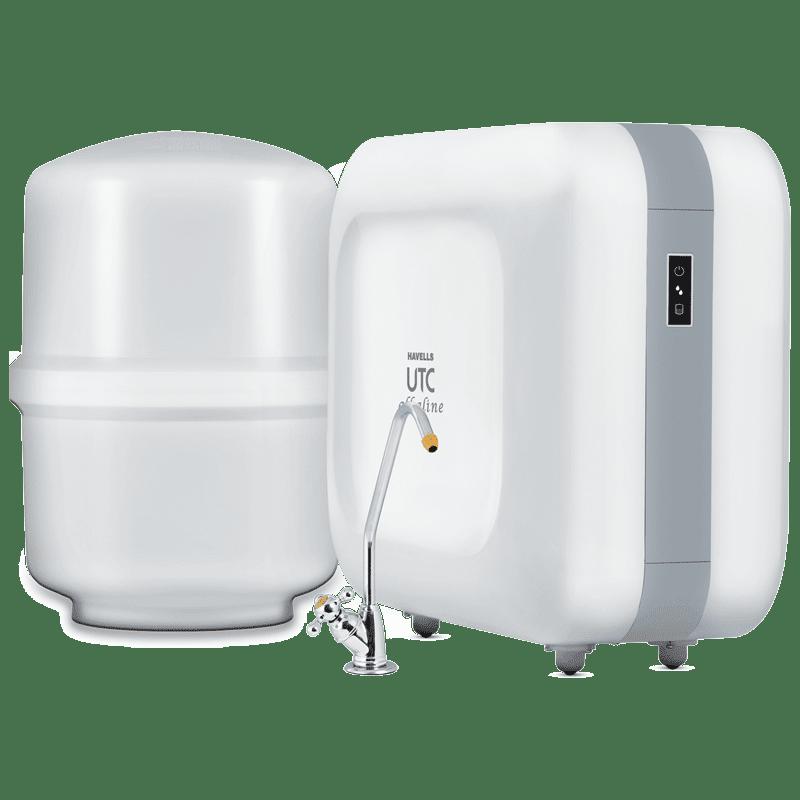 Havells UTC Alkaline RO Plus UV Water Purifier (GHWRUAW015, White)